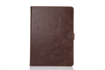 Harga Moonmini Crazy Horse PU Leather Flip Cover for Samsung Galaxy Tab S2 8.0 T715 (Brown) - intl
