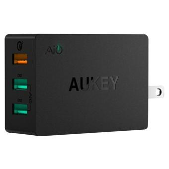 Harga AUKEY, PA-T14, 43.5w, 3-Port Wall Charger with Quick Charge 3.0