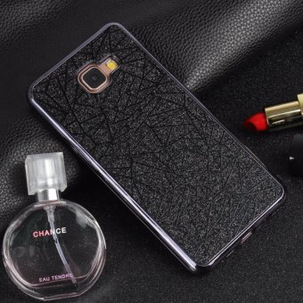 Harga Shockproof Bling 3D Electroplated Bumper Water Cube Pattern Soft TPU Case for Samsung Galaxy A520 A5 2017(Black) - intl