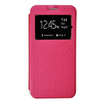 Smile Flip Cover Case Samsung Galaxy Grand Prime G530 Hot Pink .