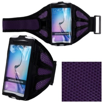 Harga Jogging Sports GYM Armband Case Cover Holder for Samsung Galaxy S6 Edge S6 S5 S4 (Purple)