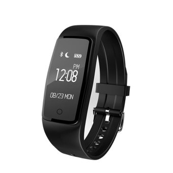 BLN S1 Heart Rate Monitor Smartband Fitness Tracker Pedometer IP67 Swimming Waterproof Sports Wristband for IOS Android (Black) - intl