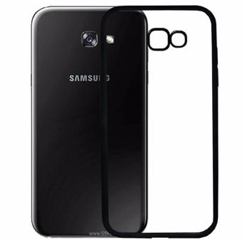 Softcase Silicon Jelly Case List Shining Chrome for Samsung Galaxy A7 2017 - Black