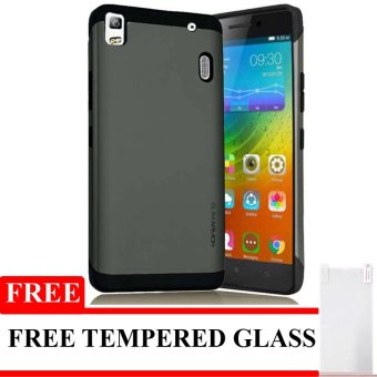 Harga Galaxy X Case Slim Armor For Lenovo a7000 - Hitam + Gratis Tempered Glass