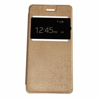 AIMI Leather Case Sarung Kulit For Xiaomi Redmi 4A Flipshell / Flipcover / Flip Cover Kulit