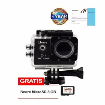 Harga Bcare Action Camera B-Cam X-1 12 MP full HD 1080P- Hitam + Gratis SD Card 8GB
