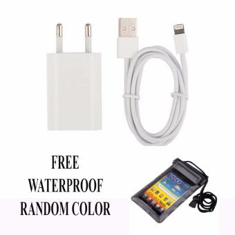 Safe Charger Kabel USB untuk Iphone 6 + free Waterproof - Putih