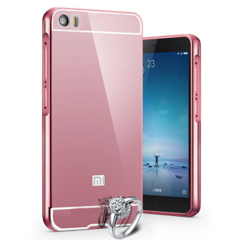 Harga Case For Xiaomi Mi5 Bumper Slide Mirror - Rose Gold