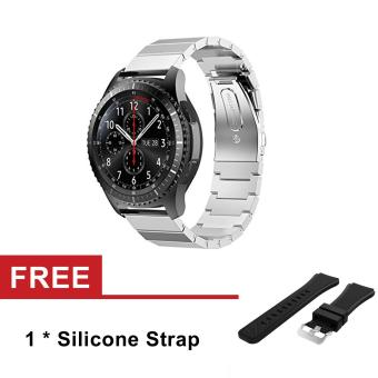 Harga 22mm Stainless Steel Watch Band Strap for Samsung Gear S3 Classic S3 Frontier - intl