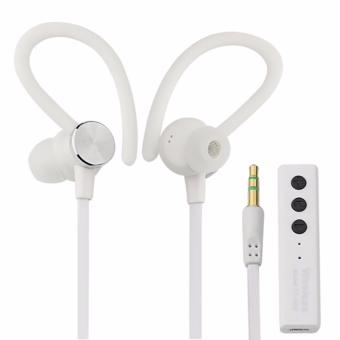 ... Harga GStation Sport Running Stereo Bluetooth Headphone Earbuds With Mic Putih