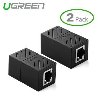 Harga UGREEN 2Pack In-Line Coupler Cat7/Cat6/Cat5e Ethernet Cable Extender Adapter -Black