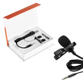 Harga Neewer Lapel Microphone Clip-on Omnidirectional Condenser Mic for Apple iPhone, iPad, iPod Touch, Samsung Android and Windows Smartphones Film Interviews Vocal Video Recording, Black - intl