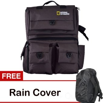 Harga Third Party Tas Kamera Ransel National Geographic - Coklat + Free Rain Cover