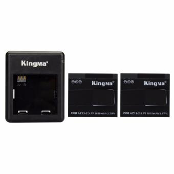 Harga KingMa Paket Complete Battery Charger Set (2 Baterai + 1 Charger) for Xiaomi Yi International - Hitam