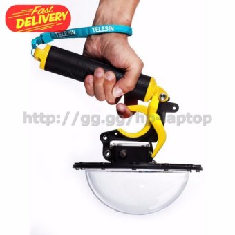 Harga Telesin Dome Port Underwater Clear Photography 6 Inch Acrylic Base with Pistol Trigger for GoPro - Yellow