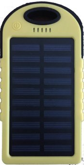 Power Bank Solar Tenaga Surya Capacity 88000 mAh - Kuning