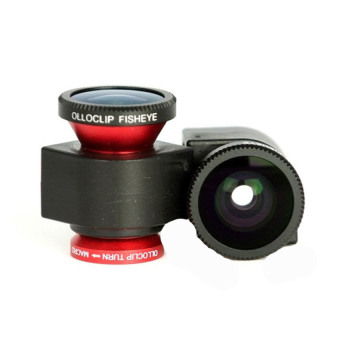 Harga Olloclip Lens 3 in 1 for iPhone 4/4s - Merah