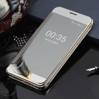 Harga Clear View Flip Cover Softcase Casing Mirror Autolock Samsung S7 EDGE