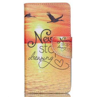 Harga Sunset Seagull Card Slot Wallet PU Leather Stand Flip Case Cover For Acer Liquid Z520 Case - intl