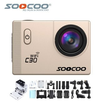 Harga SOOCOO Official C30 Wifi 4K Waterproof Action Sport Camera(Gold)