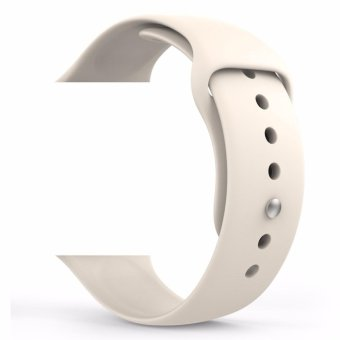 Harga YOOME Soft Silicone Replacement Sport Band for Apple Watch iPhone iWatch 42mm Models (3 Pieces of Bands Included 2 Lengths S/M and M/L Size)- Antique White - intl