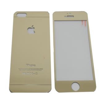 Tempered Glass 2in1 Mirror Glossy For Apple iPhone 5 /Iphone5/ iPhone 5G/ iphone 5S/ iphone 5SE - Gold
