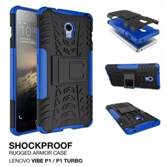 Harga Armor Rugged Shockproof Hybrid Hard & Soft Case Lenovo Vibe P1 Turbo - Biru