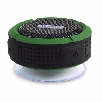 Harga Bluetooth Speaker Mini Bluetooth 4.0 Sound Box 3D Surround Waterproof Speaker (Green)