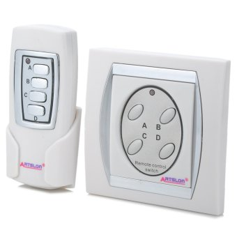 Harga Wireless 4 Ways Remote Control Home Lamp Light Switch - intl