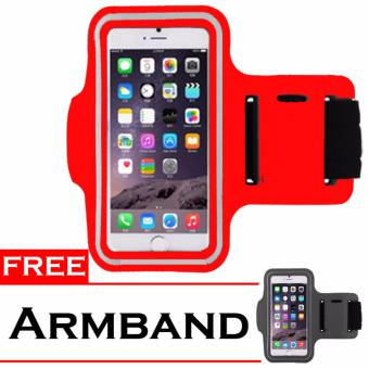 Harga Best seller Armband Sportyand Save Smartphone up 5,5inch + Free Armband - Red