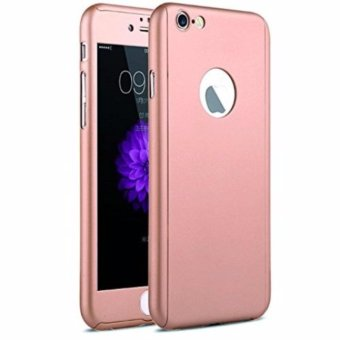 Hardcase Case 360 Iphone 6 / 6s Casing Full Body Cover - Rose Gold + Free
