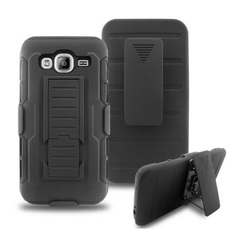 Harga Full Body Shockproof Heavy Duty Rugged Case With Locking Belt Swivel Clip & Kickstand For Samsung Galaxy J3 (2016 version) / SM-J310 / SM-J310x / SM-J320 / SM-J320x - intl