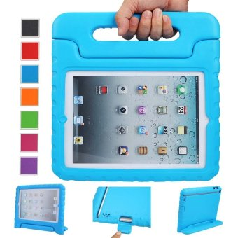 Harga Welink Apple iPad 2/3/4 EVA Case / Shockproof Case Light Weight Kids Case Super Protection Cover Handle Stand Case For Apple iPad 2/3/4 (Blue)