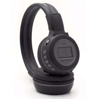 Harga Zealot N85 Wireless Headset Bluetooth Headphone with FM TF & Mic - Hitam