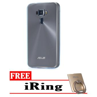 Case Softcase Ultrathin for Asus Zenfone 3 / ZE552KL - Clear + Free i-Ring