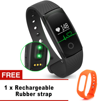 Harga ID107 Heart Rate Monitor Smartband Pulse Sports Fitness Tracker for Android iOS - intl