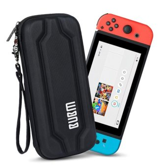 Harga BUBM EVA Hard Carrying Case Zip Sleeve for Nintendo Switch Console & Accessories - Black - intl