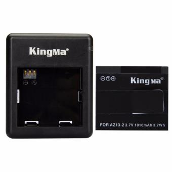 Harga Kingma Combo Deluxe Battery Charger / Set Baterai For Xiaomi Yi International Version (1x Battery + 1 Charger) - Hitam