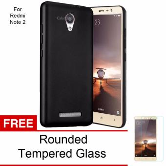 Harga Calandiva 360 Degree Protection Case for Xiaomi Redmi Note 2 / Redmi Note 2 Prime / Redmi Note 2 Pro (Black) + Free Rounded Tempered Glass