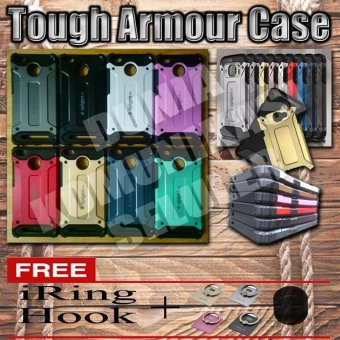 Harga Elegant Case Iron Tough Armour Xiaomi Redmi 3 Pro / 3x / 3S - Hitam + Gratis Iring + Hook