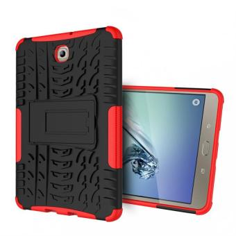 PC + TPU Hybrid Armor Kickstand Case for Samsung Galaxy Tab S2 8.0 T715(Red