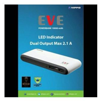 Harga Hippo EVE 10000mAH Power bank - Putih..