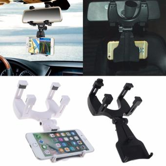 Harga Auto Car Rearview Mirror Mount Stand Holder Cradle For Universal Cell Phone GPS - intl