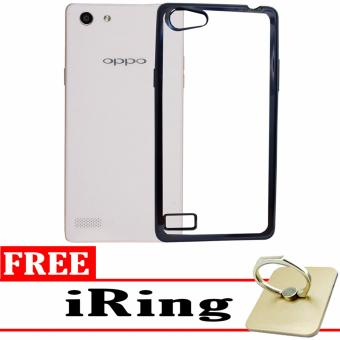 Softcase Silicon Jelly Case List Shining Chrome for Oppo Neo 7 A33 Black .