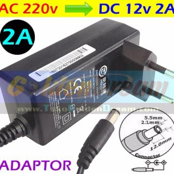 Harga Adaptor DC 12v 2A in: 220V AC Power Supply 2.1x5.5mm Adapter LED CCTV