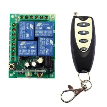 Harga New DC 12V Wireless Remote Control Switch Module and Car Remote Control 433 - intl