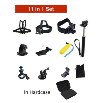 Harga Bcare 11 in 1 Outdoor Sports Action Camera Accessories Kit - Black