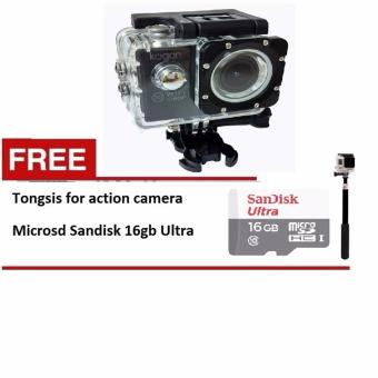 Harga Kogan Action Camera 1080p - 12MP NV - WIFI - Hitam - Free Micro SD Sandisk ultra 16 GB- Tongsis