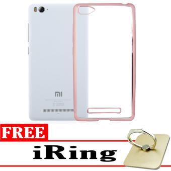Softcase Silicon Jelly Case List Shining Chrome for Xiaomi Mi 4i - Rose Gold + Free