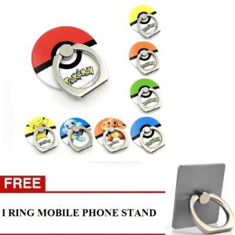 Harga iRing / Ring stand - Cincin Hp Model Pokemon Go + Gratis iRing Mobile Phone Stand - 1 PCs